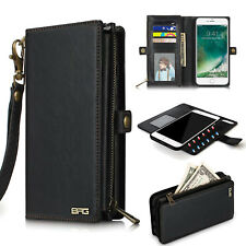 [RFID Blocking] Genuine Leather Wallet Case SHOCKPROOF For Apple iPhone X 8 7 +