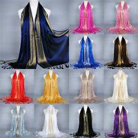 Women Cotton Tassel Long Hijab Pashmina Shawl Scarf Scarves Stole Wrap