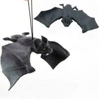 Große weiche Gummi fliegen Black Bat Halloween Tease Person Simulation Bat- I0P6