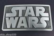 NEW Original STAR WARS metal logo belt buckle Pewter color Cosplay or just wear2