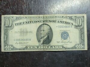 Series of 1953 $10 * Star Note Silver Certificate