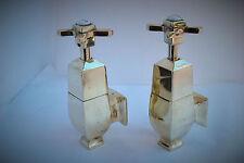 Robinets de baignoire globe robinets en laiton antique ancien déco salle de bains robinets régénérés & refurbed