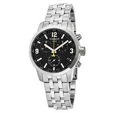 TISSOT T0554171105700 PRC 200 Chronograph Black Dial Stainless Steel Men's Watch