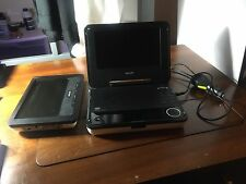 Philips Portable DVD Player PET708/37 Very Good Condition Missing Mounts