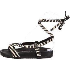 Heidi Klum BIRKENSTOCK MALINDI Zebra Sling-back Ankle Sandal EU38 US7 UK5 Narrow