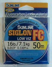 Siglon FC Fluorocarbon Line 50m 16lb Diameter 0.33 mm (5884) Sunline