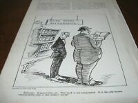 1921 Original CARTOON - RARE BOOK Only One NOT AUTOGRAPHED by Author AUTOGRAPH