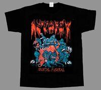 AUTOPSY MENTAL FUNERAL'91 NEW BLACK SHORT/LONG SLEEVE T-SHIRT