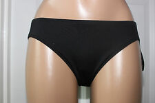 NEW Ralph Lauren LR6GA93 Black Solid Swimwear Hipster Bikini Bottom size 14