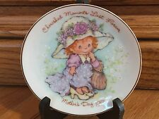 "Avon 1981 Mothers Day Porcelain Plate, 22k Gold Trim, ""Cherished Moments Last."""