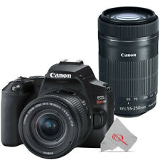 Canon EOS Rebel SL3 DSLR Camera with Canon 18-55mm and 55-250mm Lens Premium Kit