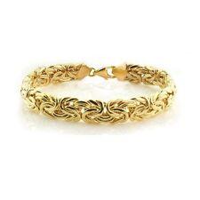 14K Yellow Gold Byzantine Bracelet EJB10308