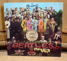 The Beatles Sgt. Peppers Repro Poster W-Paul McCartney Autograph Poster 8 1/4""
