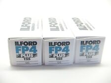 3 x ILFORD FP4 PLUS 125 120 ROLL CHEAP B&W FILM By 1st CLASS ROYAL MAIL
