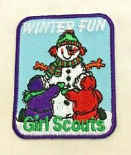 Cute Girl Scout Patch WINTER FUN, 34 available for Troop Event CHRISTMAS GIFT