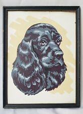 Vintage Paint By Numbers Collectable Cocker Spaniel Dog Framed Art.