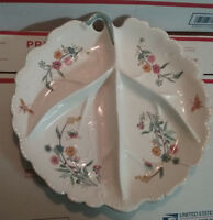 "MADE IN JAPAN BY ""ANDREA"" VINTAGE PLATTER POTTERY COLLECTIBLE LEAF WALL OR TABLE"