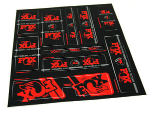 FOX Racing Shox Heritage Fork and Shock Decal Kit, RED