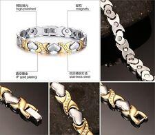 New Heart 316L Stainless Steel Energy Magnetic Germanium Women/Men's Bracelet