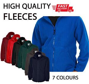 PLAIN NO TEXT Classic FLEECE Jacket Full Zip Work Wear Warm Casual HQ Clothing P