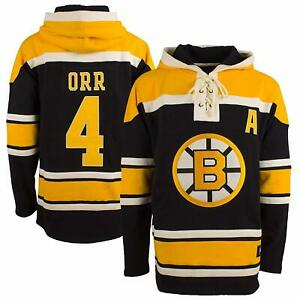 Bobby Orr 47 Brand Hockey Lacer Jersey Hoodie! Old Time Hockey Fleece Sweater