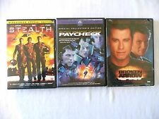 Stealth, Paycheck, Broken Arrow (DVD) Biel, Foxx, Affleck, Uma, Travolta, Slater