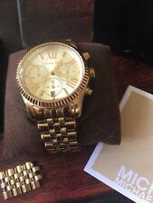 Michael Kors MK5556 Mid-Size Golden Lexington Chronograph Stainless Steel Watch