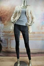 New MINK PINK Black Sparkle Stretchy Pleather Leggings Pants XS Extra Small