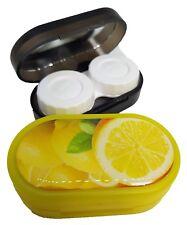 Funky Fruit Mirror Case Contact Lens Soaking Storage Case UK MADE - Lemon