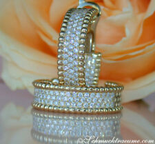 Echter Diamanten-Ohrschmuck aus Gelbgold mit Brilliantschliff und Schnappverschluss
