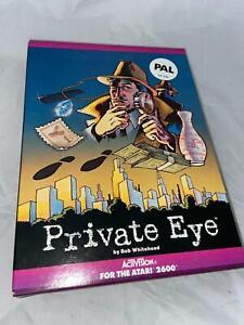 Atari 2600 VCS Original Private Eye Open Box Cartridge Video Game 1984 PAL