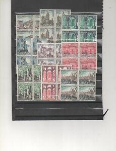 ESPAÑA-1541/50 Paisajes y Monumento  bloques  cuatro sellos nuevos  (según foto)
