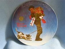 """""""Wrapped Up In Christmas"""" Bradford Collectable Norman Rockwell Plate"""