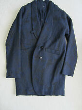 PAUL SMITH Ladies Winter COAT - Blue patterned with matching Gilet - size 42/52