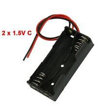 5X(H3 Schwarzer Kunststoff Batterie Halter 2 x 1,5 V AAA