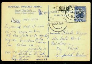 1962 Downrated card - Central Post Office Palace/Bucharest,Romania,card