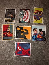 GG) Marvel DC Los Vengadores Pegatinas Paquete Impermeable Equipaje Comic Álbum de Recortes Grandes