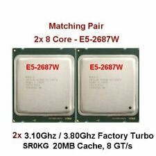 Pair-8 Core 2x Intel Xeon E5-2687W 3.1GHz 20M Cache 8.00 GTs SR0KG 3.80Ghz Turbo