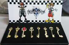 New 8pcs/Set of Kingdom Hearts II Necklace Pendant Keyblade Keychain in Box Gold