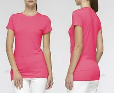 NWT- Vince Pima Cotton Blend S/S Tee, Bright Pink - Size Small