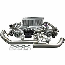 Twin Turbo Intercooler Kit For 79 93 Ford Foxbody Mustang 50l Dual T04e 700 Hp