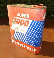 alt Kanister Öl polaroil Super 1000 Vakuum Deko Garage vintage Baujahre 1950