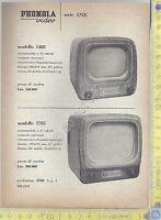 PHONOLA - Televisori mod. 1403 e 1705 - Serie ANIE TV- Anni '60