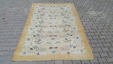 Area Rug,6x9 ft Turkish,190x290,Ower size rug, Vintage, Oushak,Handmade,kilim