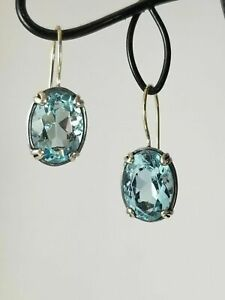 SILPADA STERLING SILVER AQUA BLUE GLASS FILIGREE EARRINGS W2177 MINT ELEGANT