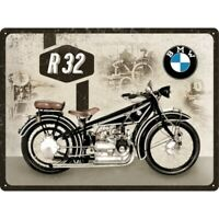Blechschild BMW Motorrad Metall Schild 40 cm,metal shield biker