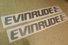 "Evinrude Vintage Outboard Motor Decals 18"" 2-PAK FREE SHIP + FREE Fish Decal!"