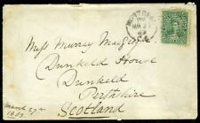 EDW1949SELL : CANADA Scott #18 on 1863 cover from Montreal to Scotland.