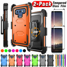 For Samsung Galaxy Note 8/Note 9 Case With Belt Clip Holster +Screen Protector