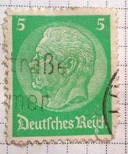 Germany Reich stamps - Paul von Hindenburg 5 pfennig 1933  FREE P & P